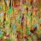 Horizontal position - Full View - Magic Golden Spectra (2018) Acrylic painting by Nestor Toro